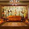 Papel de parede floral idílico do vintage das pinturas murais da parede do papel de contato da decoração Home colorida feita sob encomenda