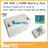 24V 50ah tiefer Batterie-Satz der Schleife-LiFePO4 mit Bluetooth Kommunikation