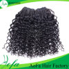 100%の人間の毛髪の拡張卸売の高品質Brazillianは巻き毛を緩める