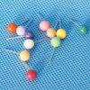 着色されたプラスチック真珠ヘッドPin (QX-PP001) 6*17mm