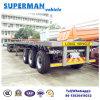De 3 essieux de camion remorque à plat semi avec la suspension de sac à air vers l'Afrique
