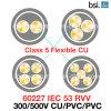 60227 PVC Electric Wire du CEI 53 (RVV) 300/500V Flexible Cu/PVC/Light