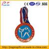 リボンが付いている柔らかいエナメルの金属の記念品メダル