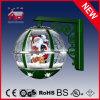 형식 녹색 라운드 볼 모양 산타클로스 크리스마스 벽 램프
