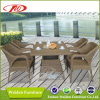 Insieme pranzante di vimini della mobilia del giardino (DH-6062)