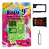 ISO iPhone 4S/5/5c/5s를 위한 R-SIM 9c Cellphone Tools Unlock Nano 또는 Micro SIM Card