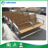 Backrest (FY-051X-A)를 가진 Iron 가공하는 정원 Bench Wood Plastic Composite Chair