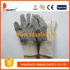 Gant fonctionnant de points de gants de polka de jardin de sécurité noire de gants (DCD301)
