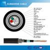 Double prix submersible sous-marin blindé de câble fibre optique de transmission du fil d'acier GYTA53/33 par mètre