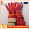 Luvas resistentes cortadas da segurança das luvas do látex do punho agregado familiar longo (DHL442)