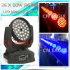 36*10W RGBW 3 in 1 LED Moving Head met Zoom