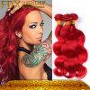 方法毛カラーブラジルボディ波様式の赤い人間の毛髪