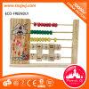 Frame de contagem de madeira da matemática educacional que aprende brinquedos do estudo