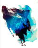 Стикер Tattoo искусствоа стикера Tattoo волка водоустойчивый временно