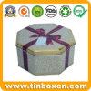 Rectángulo de regalo octagonal del metal para el caramelo de chocolate, rectángulo del estaño del regalo
