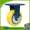 Handlaufkatze PU-Roheisen-Rad-industrielle Fußrolle