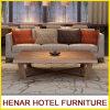 Aschen-hölzernes Bein-graues Couch-Sofa für Hotel-Gaststätte