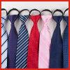 卸し売り人の手動縞の首のタイ、方法ポリエステルジッパーのタイ
