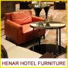 Neuer Entwurfs-heißer Verkaufs-orange lederner Akzent-Stuhl für Hotel