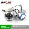 Lente do projetor da microplaqueta do diodo emissor de luz LG do farol do carro da lente do xénon do Bi do diodo emissor de luz da polegada 5600K 3200lumen de Iphcar 3