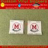 주문 승진 상표 자동 접착 비닐 공간 레이블 스티커