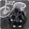 Кукла игрушки зайчика Keychain шерсти кролика Rex норки для Keyring Keychain кролика Копенгаген анизотремуса мешка милого