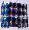Gemerzerisierte Wolle-Garn-gefärbte Wollen Scarve mit Lycra