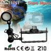 Montagem de mergulho ajustável do Archon Z10 Gopro, montagem do herói 3 de Gopro para a lanterna elétrica do mergulho
