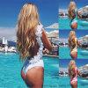 La fleur neuve de 2017 dames a encadré le beau bikini monopièce