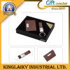 Houder Keychain van Namecard Leer van het bedrijfs van de Gift de Vastgestelde (B13)