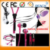 Bass stéréo Headset dans Ear Metal Headphones Zipper Earphones avec MIC 3.5mm Jack