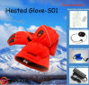 Retter Heated Ski Glove für Sking, Electric Heating Gloves Snow Glove, Long Finger Leather Glove, Comfort, Good Looking u. Good Fitting (S01)