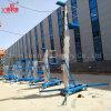 Einzelne Mast-Aluminiumlegierung-Luftarbeitsbühne-teleskopische leichte Strichleitern