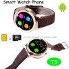Caliente de la pantalla táctil de Venta Mtk6260 reloj teléfono inteligente (T3)