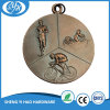 Medalla antigua del Triathlon del cobrizado 3D del chorreo de arena
