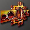 Pittura a olio astratta moderna di arte della decorazione (KLMA5-0028)