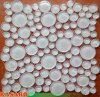 Mattonelle di mosaico di vetro rotonde bianche eccellenti (KSL135145)