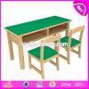 1 차와 유치원 W08g227를 위한 도매 고품질 나무로 되는 아이 책상 그리고 의자