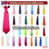 子供の男の子の子供の固体明白なサテンの伸縮性がある首のタイのネクタイの結婚披露宴(T8021)