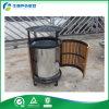 Compartimiento de polvo de madera del metal urbano de los muebles, cubo de la basura, cubo de la basura, compartimiento de basura (FY-182G)