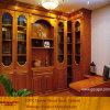 Großes Solid Wood Schlafzimmer Bookcase mit Wood Desk (XS9-035)