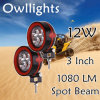 Motorfietsen Parts IP68 LED Driving Lamp, 3 Inch 9-32V 12W 12V Ledwork Light voor Offroad SUV ATV