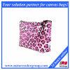 Bolsa cosmética del maquillaje del bolso de Facric del guepardo rosado