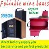 ワインのFoldableワインのための紙箱はFoldableボックスを包むOEM&ODMを囲む