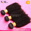 Do Afro adorável do Indian de Dropshipping 100 dos comerciantes do Weave do cabelo dos negócios de 3/4 de pacote cabelo humano Curly Kinky