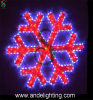 De Lichten van het LEIDENE Motief van de Sneeuwvlok voor de Decoratie van Kerstmis