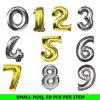 Levering voor doorverkoop 18 , 32 , de Ballon van het Aantal van Mylar van de Folie van Gebruik 42  Pary