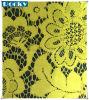 Желтый шнурок полиэфира ткани цветка для Bridal шнурка