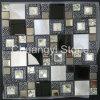 La casa moderna mezclada metal del vidrio y de mármol diseña el mosaico decorativo del azulejo de la pared