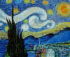 Home Decor (LH401000)를 위한 화포 Starry Night Reproduction Cloud Moon House Oil Painting